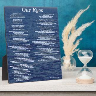 Our Eyes Love Poem Ocean Waves Plaque