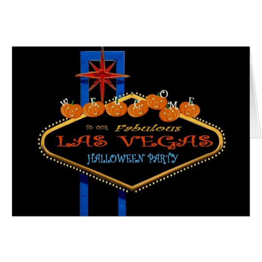 Our Fabulous Las Vegas Halloween Party Card