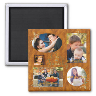 Our Family Photo Album Collage Magnet