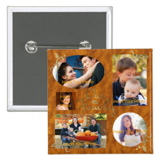 Our Family Photo Album Collage Pinback Buttons