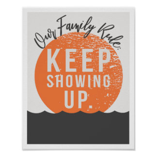 """Our Family Rule 11""""x14"""" Art Print"""