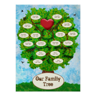 Our Family Tree Two Children Poster
