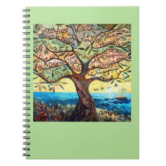 Our Father Painted Prayer Tree Notebook