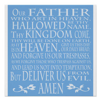'Our Father' Prayer, blue shade