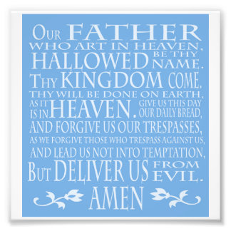 'Our Father' Prayer, blue shade Photograph
