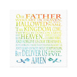'Our Father' Prayer Canvas Print