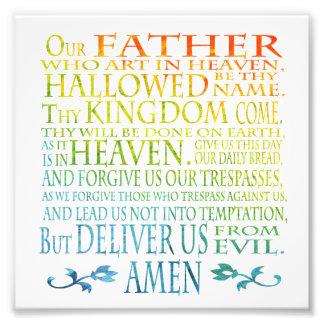 'Our Father' Prayer Photo Art