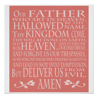 'Our Father' Prayer, pink shade