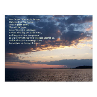 Our Father Prayer Postcard
