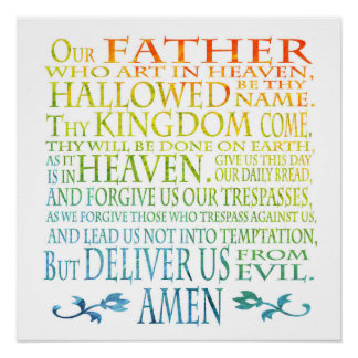 'Our Father' Prayer Poster