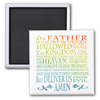 'Our Father' Prayer Square Magnet