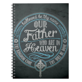 """""""Our Father Who Art In Heaven"""" Christian Gift God Notebook"""