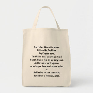 Our Father, Who art in heaven, Hallowed be Thy ... Tote Bag