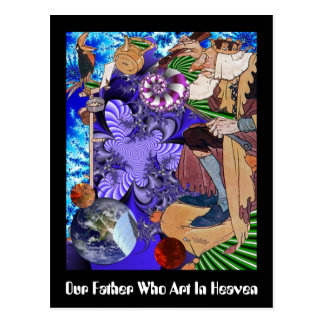 Our Father Who Art In Heaven Postcard