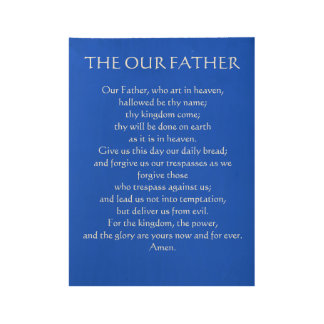 Our Father Wooden Poster