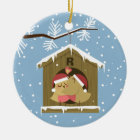 Painted red robin christmas bird ceramic ornament zazzle for First apartment ornament