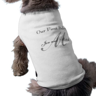 Our First Baby Monogram Dog Shirt