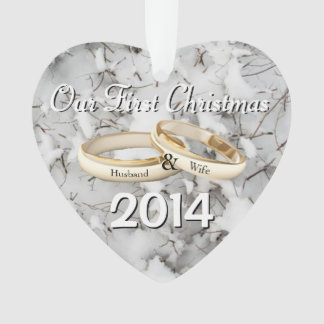 Our First Christmas Heart Christmas Ornament