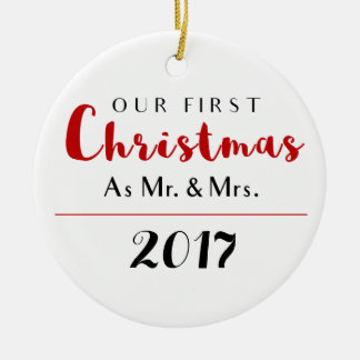 Our First Christmas Holiday Ceramic Ornament