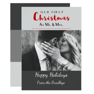 Our First Christmas Holiday Christmas Card