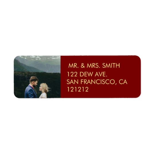 Our First Christmas | Holiday Photo Return Address Return Address Label