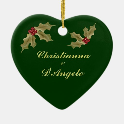 """""""Our First Christmas/Husband and Wife"""" Christmas Tree Ornament"""
