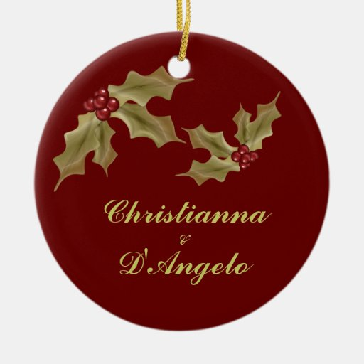 """""""Our First Christmas/Husband and Wife"""" Ornament"""