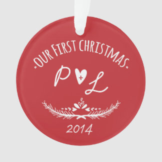 Our First Christmas Initial Ornament