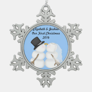Our First Christmas Married Wedding Engagement Ornament