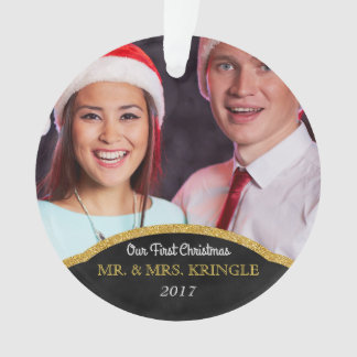 Our First Christmas Mr. and Mrs. Photo Ornament