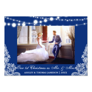 Our First Christmas Mr. & Mrs. Photo Card B