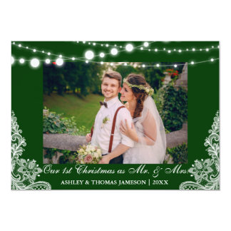 Our First Christmas Mr. & Mrs. Photo Card G