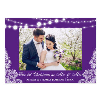 Our First Christmas Mr. & Mrs. Photo Card P