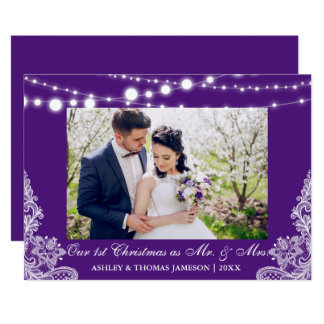 Our First Christmas Mr. & Mrs. Photo Card PB