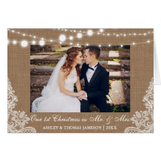 Our First Christmas Mr. & Mrs. Rustic Fold Card B