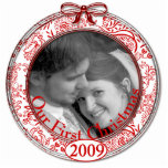 Our First Christmas Ornament 2009 Cut Outs