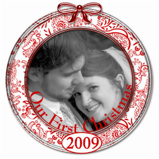 Our First Christmas Ornament 2009 Photo Sculpture Decoration