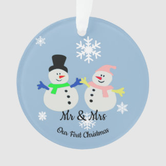 Our First Christmas Snow Couple Ornament