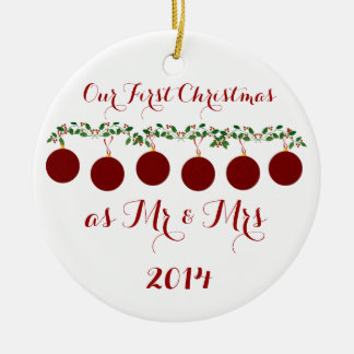 Our First Christmas Together Ceramic Ornament