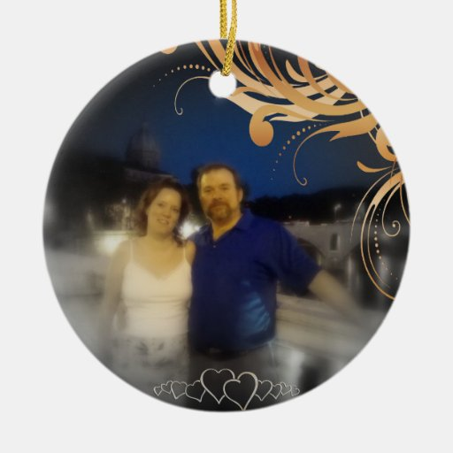 Our First Christmas Together Custom Newlywed Photo Christmas Tree Ornaments