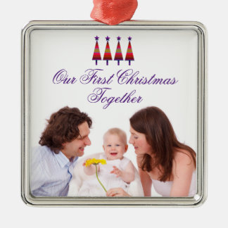 Our First Christmas Together Family Photo Ornament