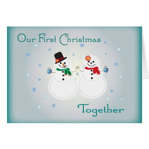 Our first christmas together greeting card zazzle