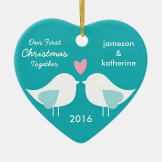 Our First Christmas Together Love Birds Ornament Christmas Ornaments