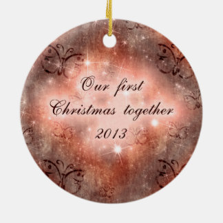 Our first Christmas together lovely design Christmas Tree Ornaments