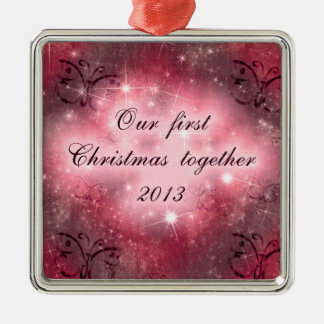 Our first Christmas together lovely red design Ornaments