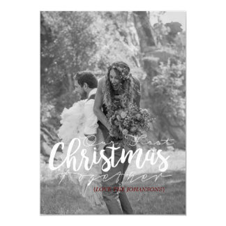 Our First Christmas Together | Modern Photo Card 13 Cm X 18 Cm Invitation Card