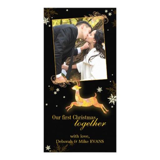 Our First Christmas Together Reindeer Photo Cards