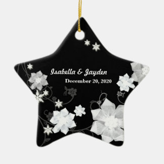Our First Christmas Together Wedding Couple Gift Ceramic Ornament