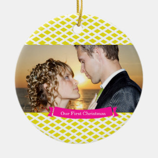 Our First Christmas Wedding Ornament, Yellow