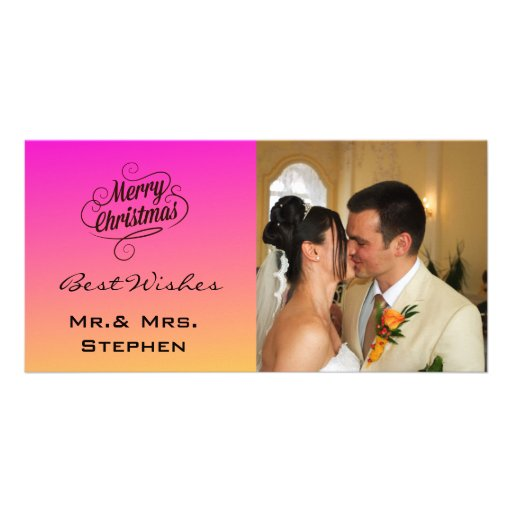 Our First Christmas Wedding Photo Cards,